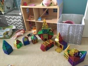 Daniel Tiger's neighborhood in magnet blocks