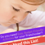 cheap and easy activities for preschoolers