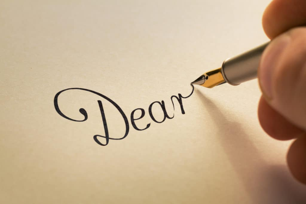 writing letters to support grieving parents