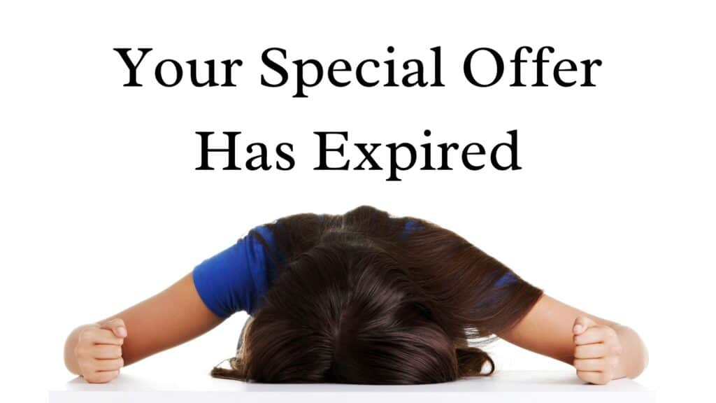 special offer expired