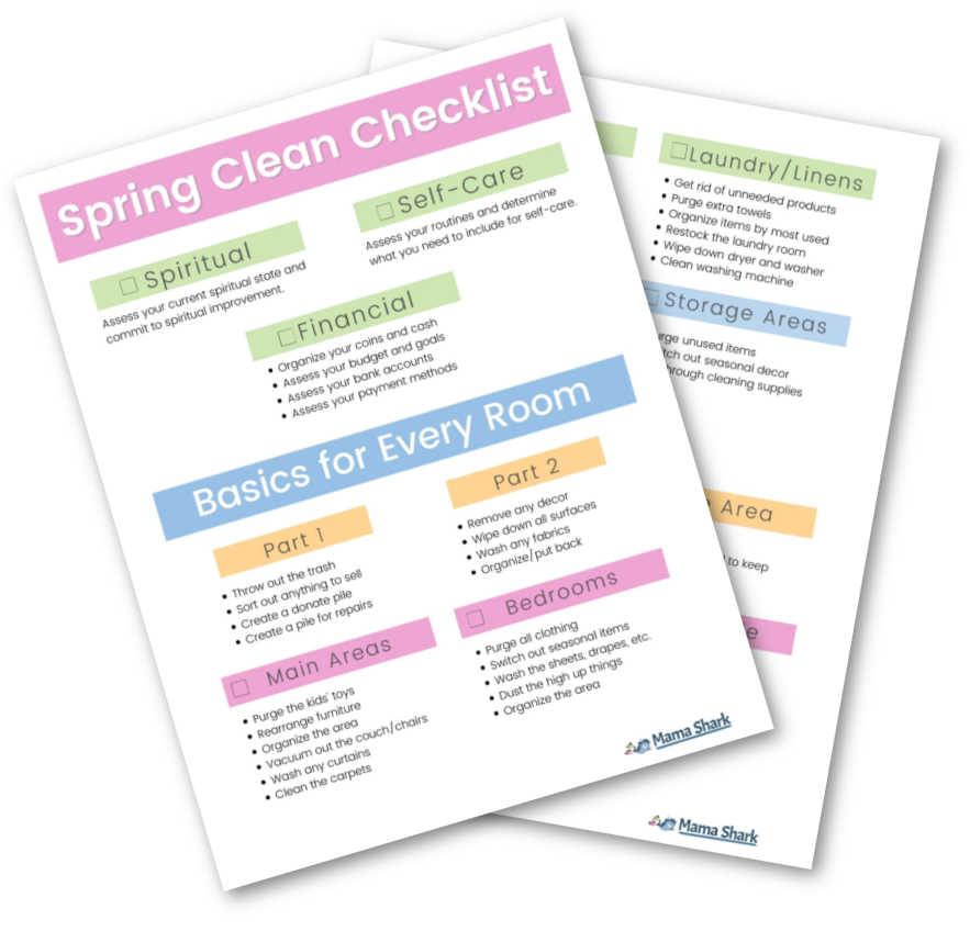 spring clean challenge printable checklist