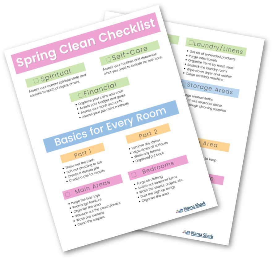 spring cleaning challenge printable checklist