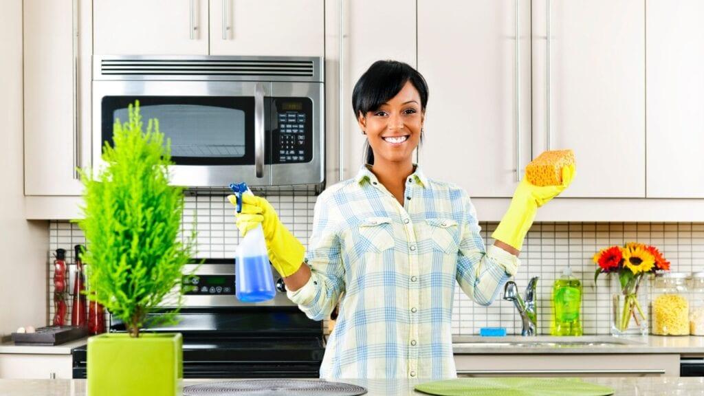 spring clean challenge kitchen