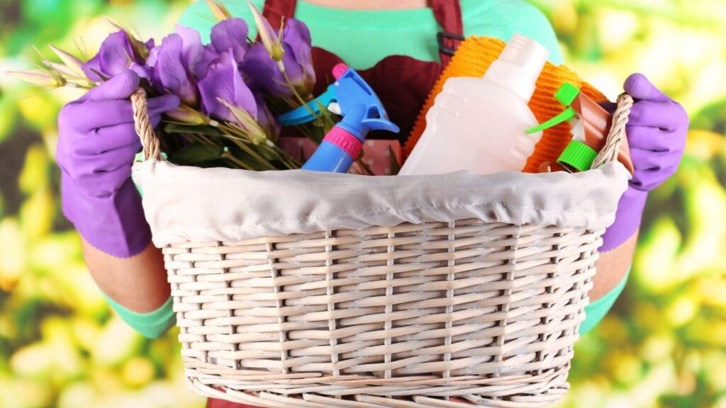 basket for spring clean challenge