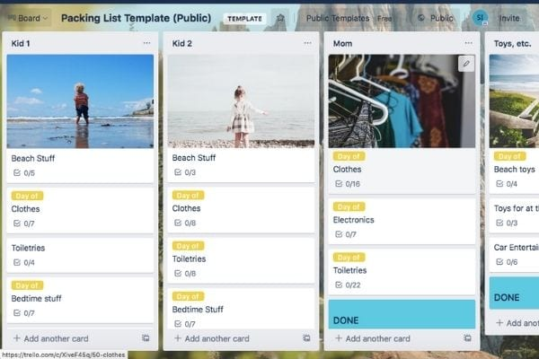 packing list for moms who know how to organize your life with trello