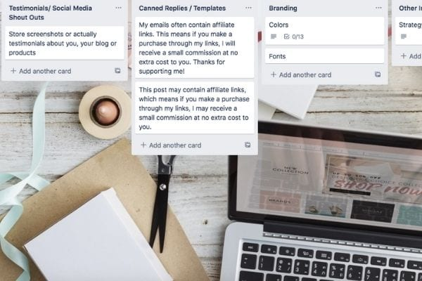 using Trello for moms to organize for work- how to use trello to organize your life as a mom