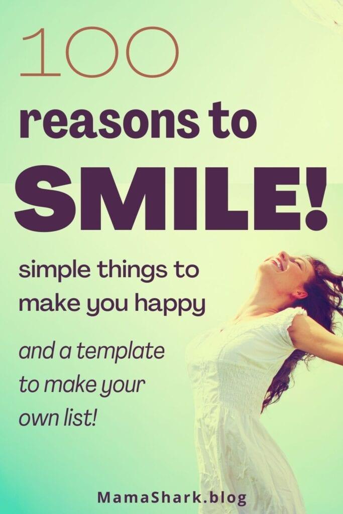 simple list of things that make me feel happy