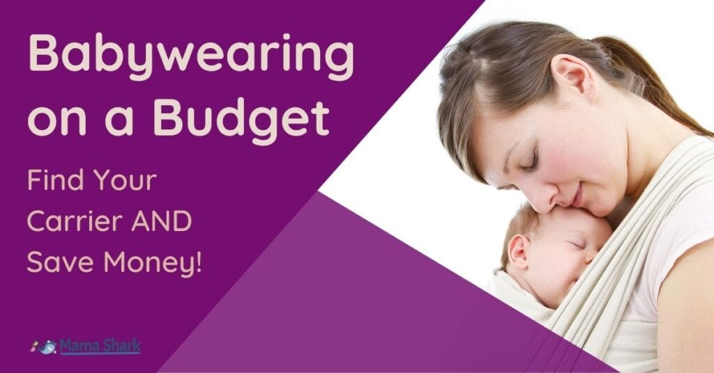 how to do babywearing on a budget