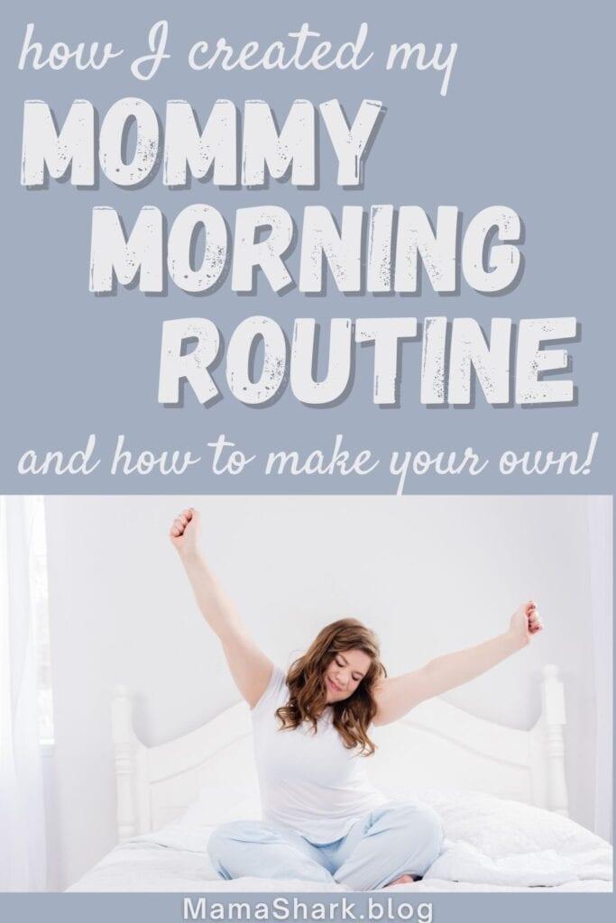 Mom enjoying her mom morning routine