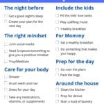 Mom Morning Routine Checklist for Busy Moms