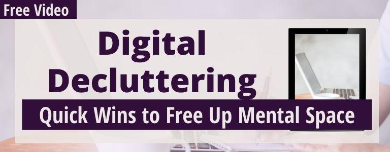 digital decluttering