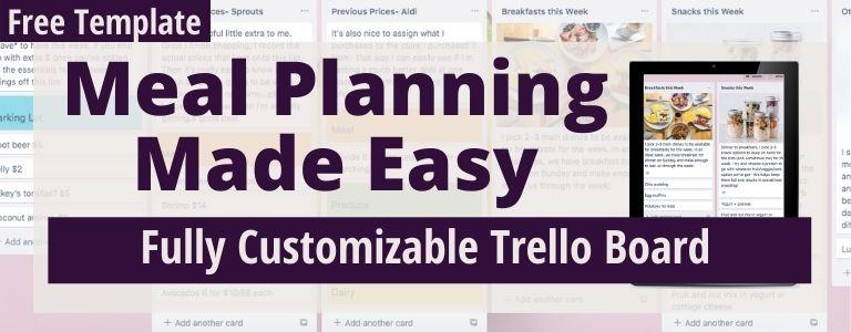 meal planning trello board
