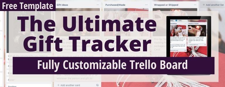 gift tracker on trello