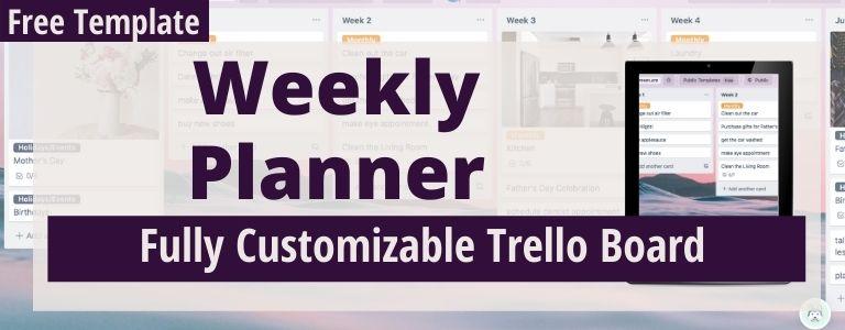 weekly trello planner