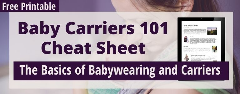 baby carriers cheat sheet